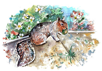 Painting - A Squirrel In York by Miki De Goodaboom