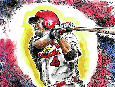 Painting - A St. Louis Cardinal by Terry Banderas