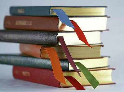 Bookmarks Wall Art - Photograph - A Stack Of Books by Derrick Neill