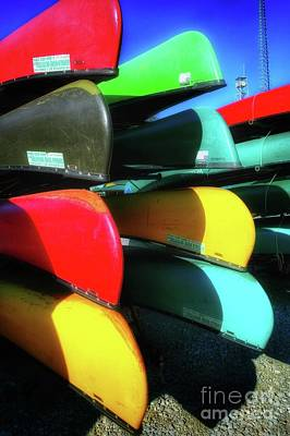Colorful People Abstract Royalty Free Images - A Stack Of Canoes Royalty-Free Image by John Myers