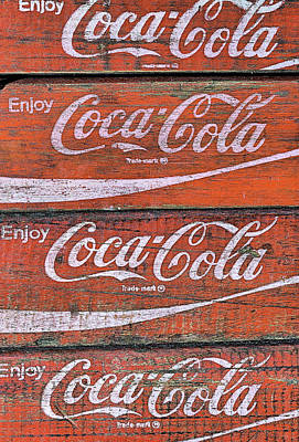 Photograph - A Stack Of Coke Crates by JC Findley