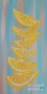 A Stack Of Lemon Slices Art Print