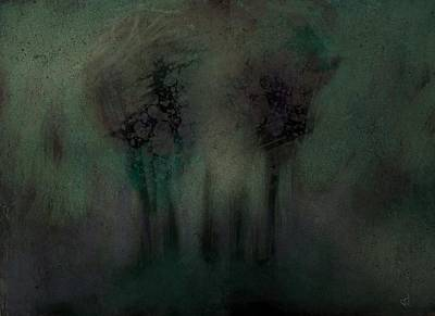 Digital Art - A Stand Of Trees by Jim Vance