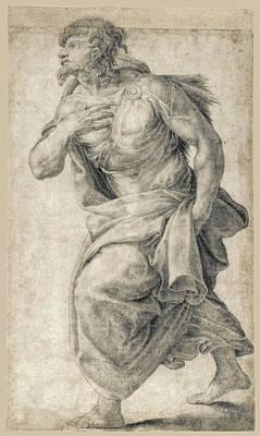Daniele Da Volterra Drawing - A Standing Figure by Daniele da Volterra