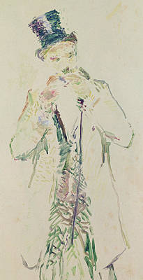 A Standing Gentleman Lighting His Cigar, 1885 Art Print by Henri de Toulouse-Lautrec