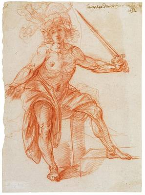 A Standing Male Figure, Brandishing A Sword Print by MotionAge Designs