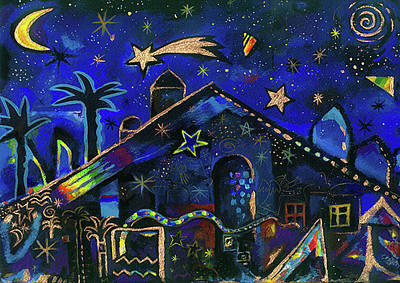 Night Pastel - a star in Bethlehem by Johannes Margreiter