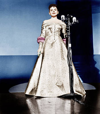 Gold Lame Photograph - A Star Is Born, Judy Garland, 1954 by Everett