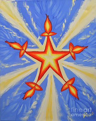 Painting - A Star Is Born by Nadine Primeau