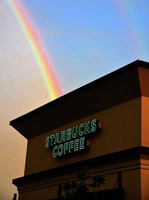 Photograph - A Starbucks Rainbow by David Lee Thompson