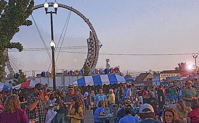 Family Night Out Photograph - A State Fair Dusk by Steve Ohlsen