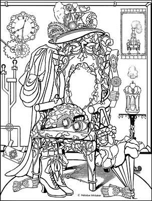 Drawing - A State Of Undress by Melodye Whitaker