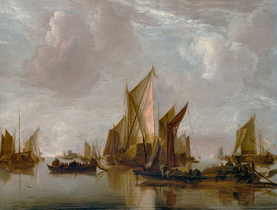 Photograph - A State Yacht And Other Craft by Jan van de Cappelle