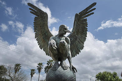 Photograph - A Statue By Mexican Artist Jorge Marin In Waco by Carol M Highsmith