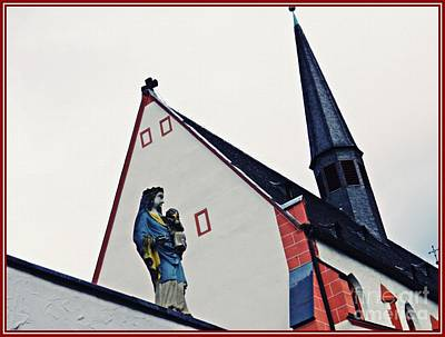 A Statue Of The Virgin Mary In Mainz  Art Print