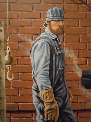 Art Print featuring the painting A Steam Fitter's Day by James Guentner