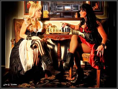 Painting - A Steam Punk Chess Match by Jon Volden