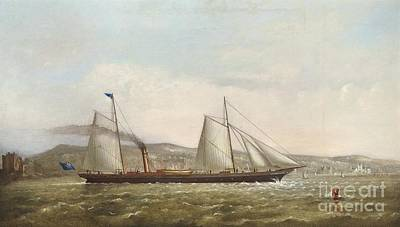 Yacht Club Painting - A Steam Yacht Of The New Brighton Yacht Club by Celestial Images