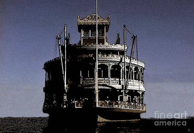 Steamboat Digital Art - A Steamboat Coming by David Lee Thompson