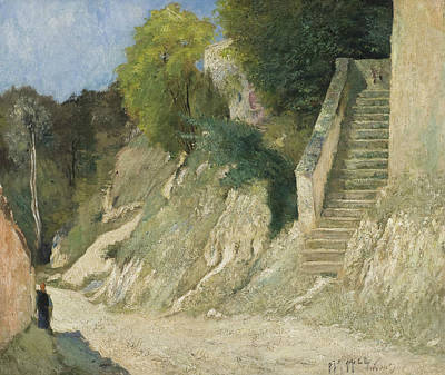 Painting - A Steep Ascent In Montigny-sur-loing by Carl Fredrik Hill