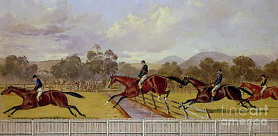 Painting - A Steeplechase  by Samuel Henry Alken