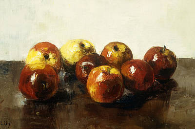 A Still Life Of Apples Art Print by Lesser Ury