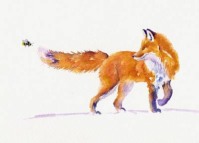 Red Fox Painting - A Sting In The Tail by Debra Hall