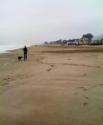 Stinson Beach California Photograph - A Stinson Beach Jog by Mary Chris Hines