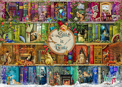Library Digital Art - A Stitch In Time by Aimee Stewart