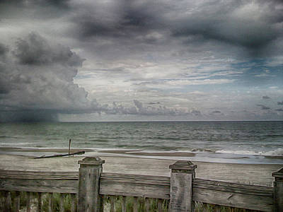 Sand Fences Photograph - A Storm Approaching Storm by Tom Gari Gallery-Three-Photography
