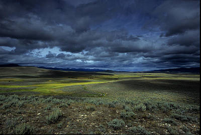 Rain Images Photograph - A Storm Builds Up Over A Colorado by David Edwards