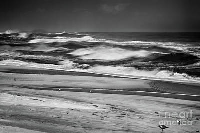 Photograph - A Storm Is Coming Outer Banks Bw by Dan Carmichael