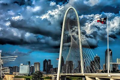 Photograph - A Stormy Afternoon Over The Margaret Hunt Hill Bridge by Diana Mary Sharpton