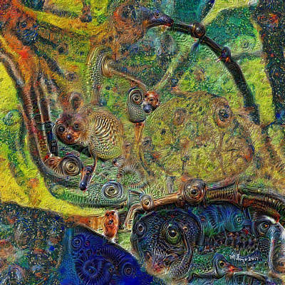 Digital Art - A Strange Forest by Mike Butler