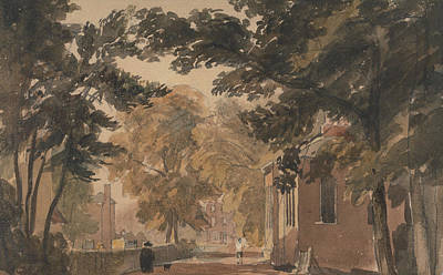 Birmingham Painting - A Street In Harborne by David Cox