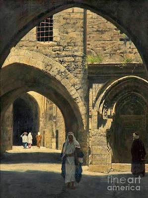Collier Painting - A Street In Jerusalem by MotionAge Designs