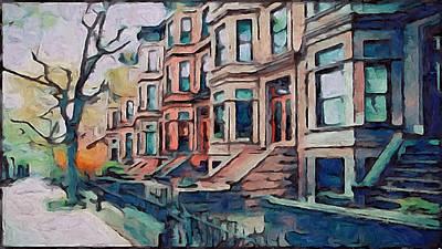 A Street In New York Art Print by Yury Malkov