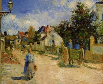 A Street In Pontoise 1879 Art Print
