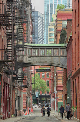 Photograph - Slate Street Skybridge by Cate Franklyn