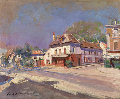South Of France Painting - A Street In The South Of France by Korovin Konstantin