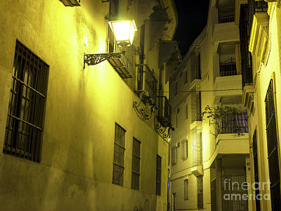 Photograph - A Street Light In Seville by John Rizzuto