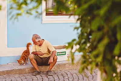 Photograph - A Street Scene In Bozcaada by Ilker Goksen