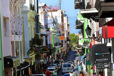 Photograph - A Street Scene In  Old San Juan Puerto Rico by Steven Spak