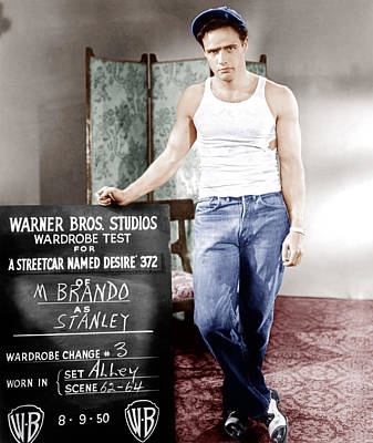 Brando Photograph - A Streetcar Named Desire, Marlon Brando by Everett