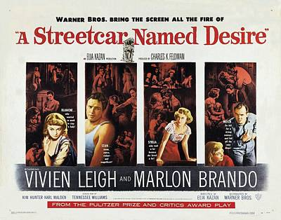 Painting - A Streetcar Named Desire Wide Poster by R Muirhead Art