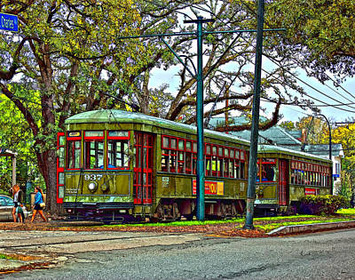 Live Oaks Digital Art - A Streetcar Named St. Charles by Steve Harrington