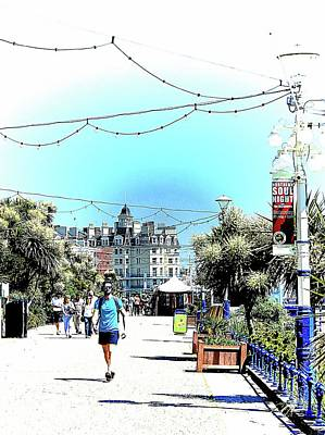 Photograph - A Stroll Along The Upper Promenade Eastbourne by Dorothy Berry-Lound
