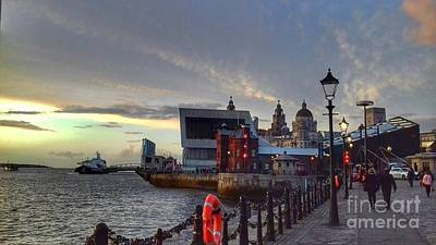 Photograph - A Stroll Along The Waterfront At Dusk by Joan-Violet Stretch