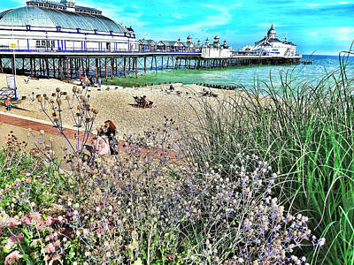 Eastbourne Photograph - A Stroll At The Seaside  by Connie Handscomb