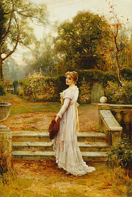 Art In The Garden Painting - A Stroll In The Garden by Ernest Walbourn